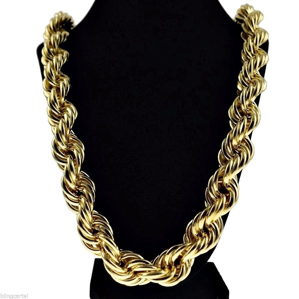 To acquire Gold Thick rope chain pictures trends