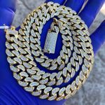 "Gold Miami Cuban Chain CZ 24"" x 12MM"