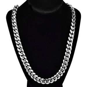 "Silver 24"" Stainless Steel Cuban Chain"