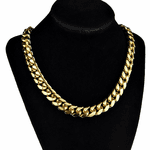 "24k Gold Plated 20"" St. Steel Choker"