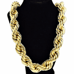 "25 mm x 30"" Gold Plated  Rope Chain"
