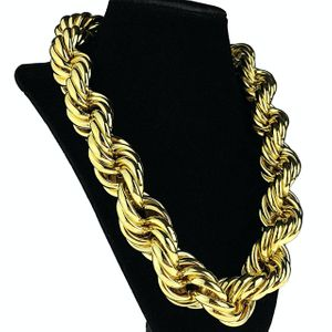 "25mm x 20"" Gold Plated Rope Chain"