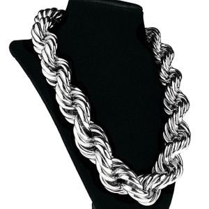 "25mm x 20"" Silver Tone Rope Chain"