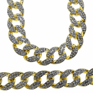 "30"" Cuban Fully Iced-Out Chain"