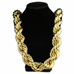 "30 mm x 36"" Gold Plated  Rope Chain"
