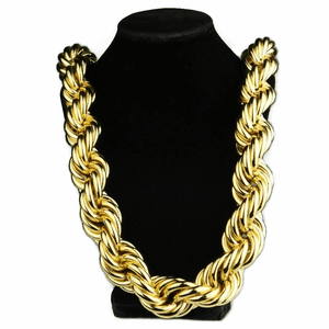 "30 mm x 30"" Gold Plated Rope Chain"