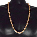 "30"" Rose Gold 10 mm Rope Chain"