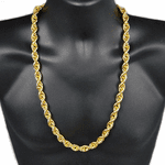 "30"" Gold Plated 12MM Rope Chain"