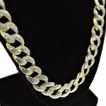 "30"" x 13MM Glitter Gold Hip Hop Chain"