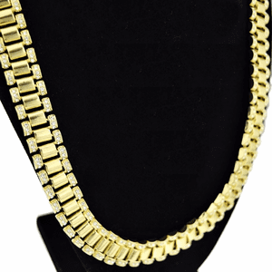 "30"" Watchband Gold Hip Hop Chain"
