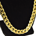 "Heavy 33"" x 13MM Gold Cuban Chain"