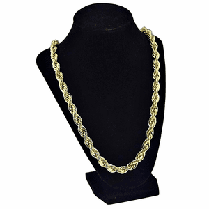 "36"" Gold Plated 10MM Rope Chain"