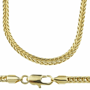 "14k Gold Plated 36"" Franco Chain"