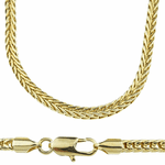 """14k Gold Plated 36"""" Franco Chain"""