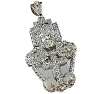 Combo Jesus Silver 3D Charm (Large)