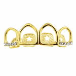 Gold All 4 Open Face Top Grillz
