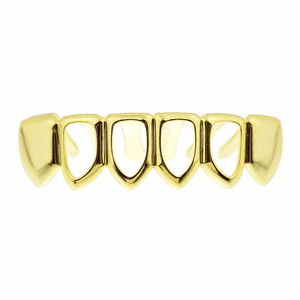 Gold 4 Open Lower Grillz