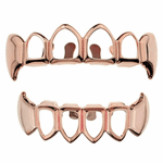 Rose Gold 4 Open Face Fang Set