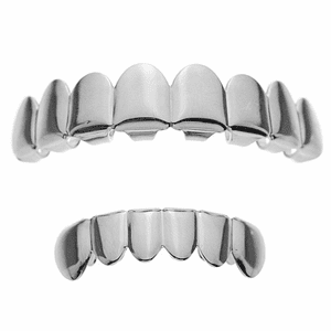 Silver 8/6 Best Grillz Set