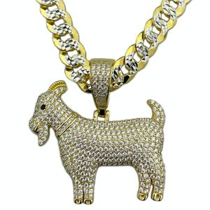 """Gold Over 925 GOAT Cuban Chain 20"""""""