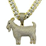 14K Gold Plated 925 GOAT Chain 20""
