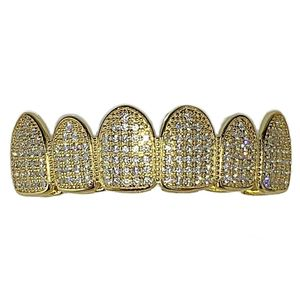 Gold Plated 925 Top Micro Pave Grillz