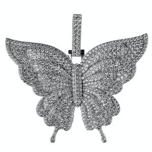 925 Silver Butterfly Pendant 2.5 Inch