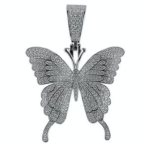 925 Silver Butterfly Pendant 1.75 Inch