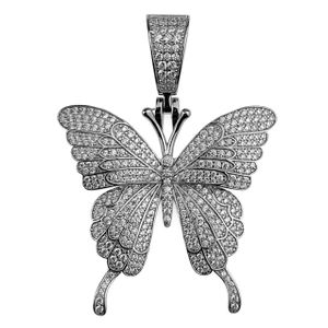 925 Silver Butterfly Pendant 1.25 Inch