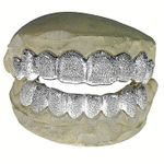 925 Silver Full Diamond-Dust Custom Grillz