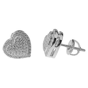 925 Sterling Silver Earrings Hearts
