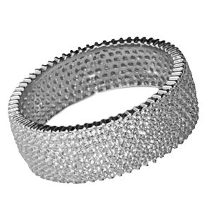 925 Silver Eternity Band Iced Ring