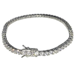 925 Silver One Row Tennis Bracelet 3MM