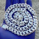 "925 Silver 24"" Miami Cuban Chain 12mm"