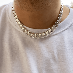 "925 Silver Cuban Chain 18"" x 14MM"