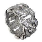 Solid 925 Silver Iced Cuban Ring