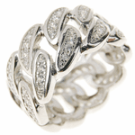 925 Sterling Silver Cuban CZ Ring