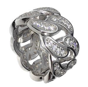 Solid 925 Sterling Silver Cuban Ring