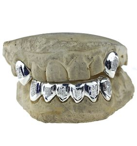 925 Sterling Silver Diamond Dust Custom Fangs Set