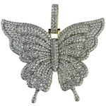 Gold 925 Butterfly Pendant 2.5 Inch