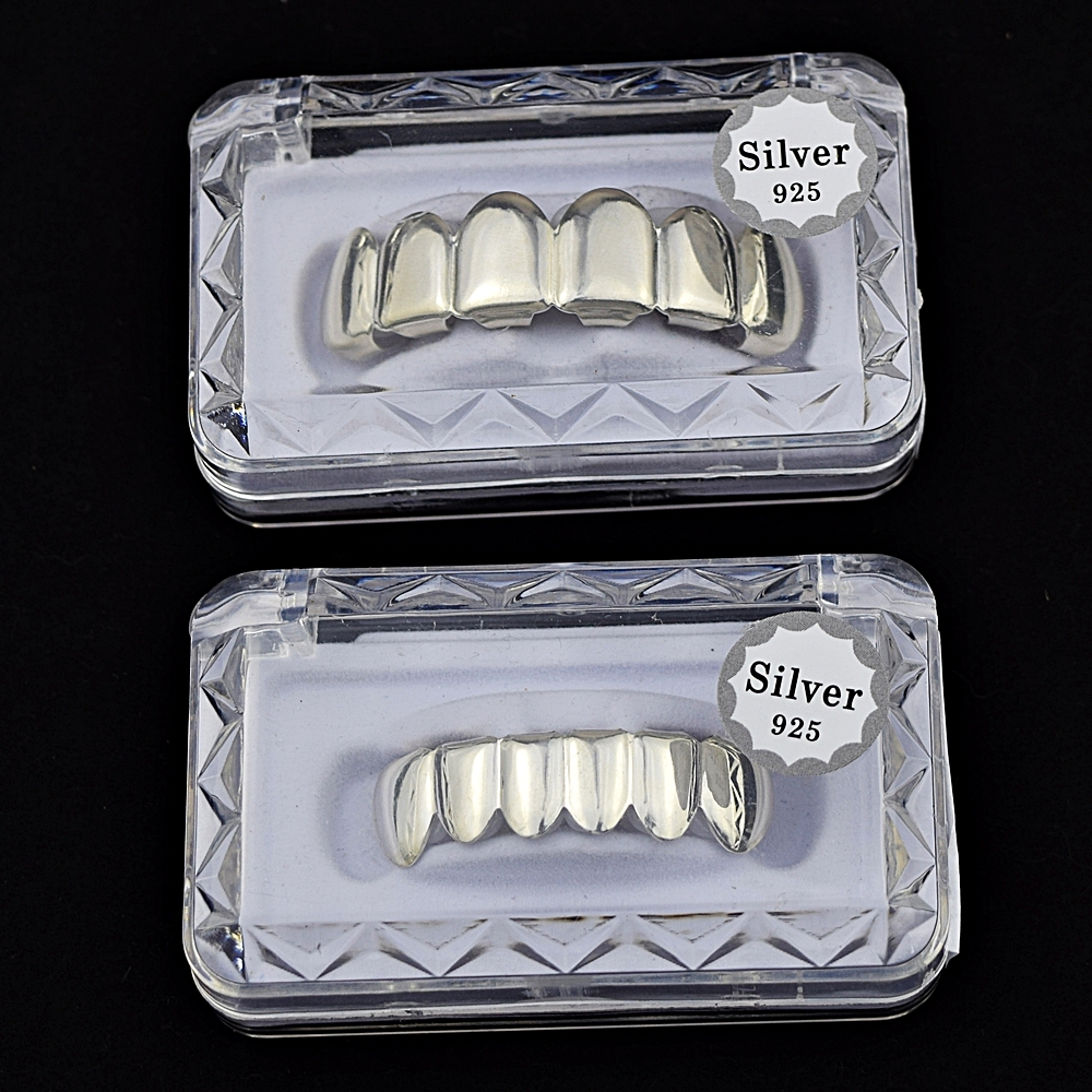 925 Sterling Silver Grillz Set 8e42a074b578