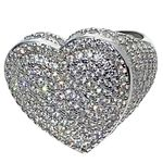 925 Sterling Silver Big Heart Ring