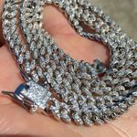 "925 Silver Cuban 20"" 6 mm Iced Chain"
