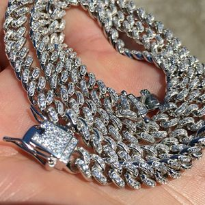 "925 Silver Cuban 24"" 6 mm Iced Chain"