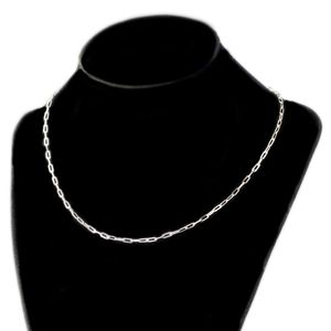 925 Silver Paperclip Chain (Choose Size)