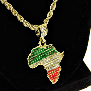 "Africa Color 24"" Gold Rope Chain"