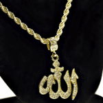 "Allah Symbol 24"" Gold Rope Chain"