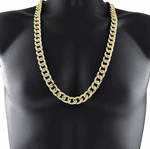 "30"" x 14MM Gold Cuban Chain"