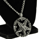 "Baphomet Necklace 28"" Pentagram Chain"