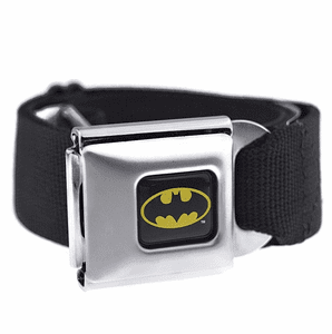 Batman Yellow Logo Black Belt
